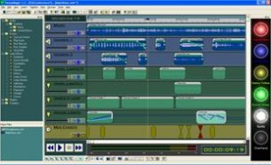 timeline based design of lighting audio and video software